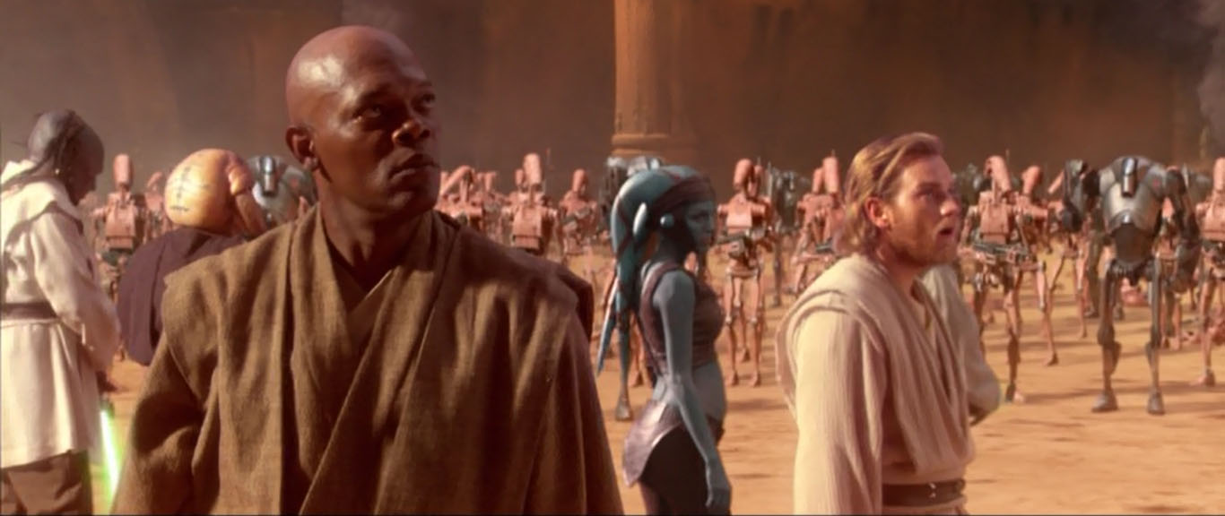 jedi-battle-of-geonosis-obi-wan-samuel-l-jackson-master-windu-star-wars-episode-2-attack-of-the-clones